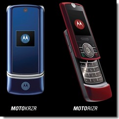 Motorola KRZR and RIZR